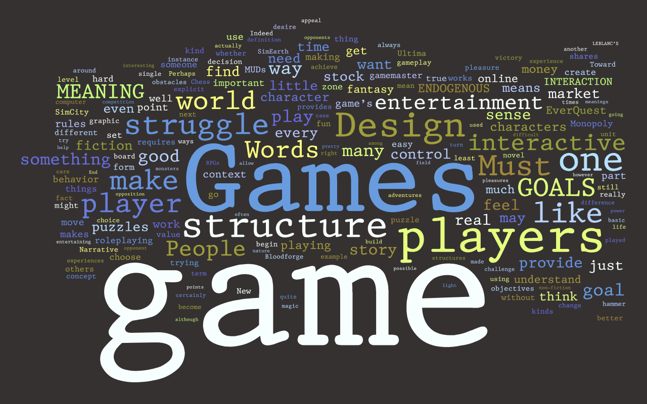 games words: